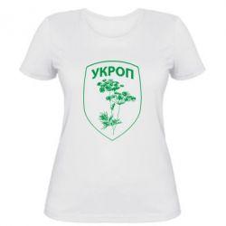Женская футболка Укроп Light