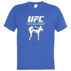 Мужская футболка  с V-образным вырезом Ultimate Fighting Championship - FatLine