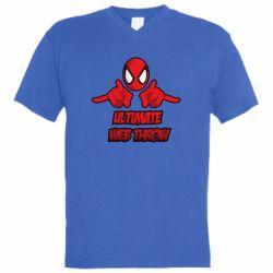 Мужская футболка  с V-образным вырезом Ultimate Web Throw