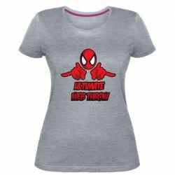Женская стрейчевая футболка Ultimate Web Throw