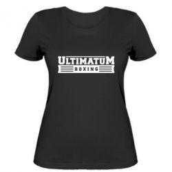Женская футболка Ultimatum Boxing - FatLine
