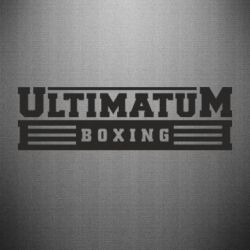 Наклейка Ultimatum Boxing - FatLine