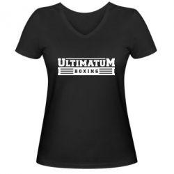 Женская футболка с V-образным вырезом Ultimatum Boxing - FatLine
