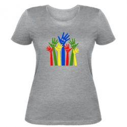 Женская футболка Улыбки на руках
