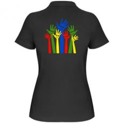 Женская футболка поло Улыбки на руках - FatLine