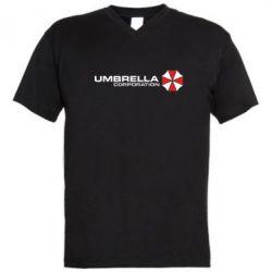 Мужская футболка  с V-образным вырезом Umbrella Corp - FatLine