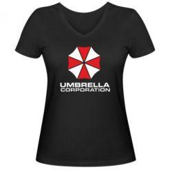 Женская футболка с V-образным вырезом Umbrella - FatLine