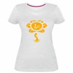 Женская стрейчевая футболка Undertale Flowey