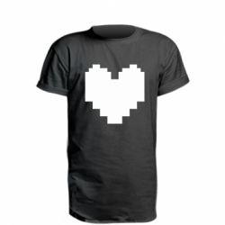 Подовжена футболка Undertale heart