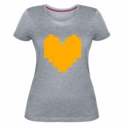 Жіноча стрейчева футболка Undertale heart