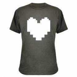 Камуфляжна футболка Undertale heart