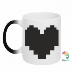 Кружка-хамелеон Undertale heart
