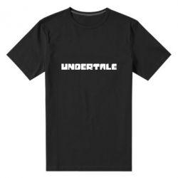 Чоловіча стрейчева футболка Undertale logo