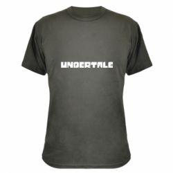 Камуфляжна футболка Undertale logo