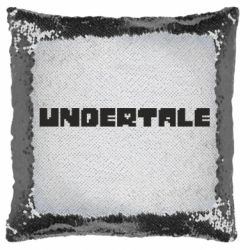 Подушка-хамелеон Undertale logo