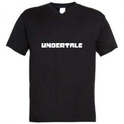 Чоловіча футболка з V-подібним вирізом Undertale logo