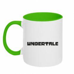 Кружка двоколірна 320ml Undertale logo