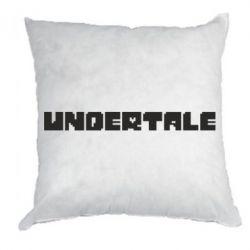 Подушка Undertale logo