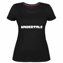 Жіноча стрейчева футболка Undertale logo