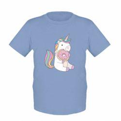 Детская футболка Unicorn and cake