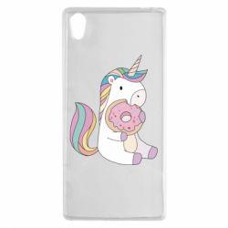 Купить Чехол для Sony Xperia Z5 Unicorn and cake, FatLine