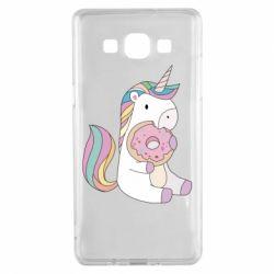 Чехол для Samsung A5 2015 Unicorn and cake
