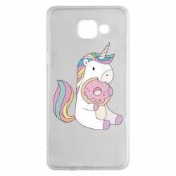 Чехол для Samsung A5 2016 Unicorn and cake