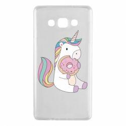 Чехол для Samsung A7 2015 Unicorn and cake
