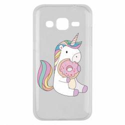 Чехол для Samsung J2 2015 Unicorn and cake