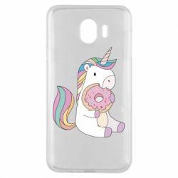 Чехол для Samsung J4 Unicorn and cake