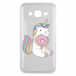 Чехол для Samsung J5 2015 Unicorn and cake