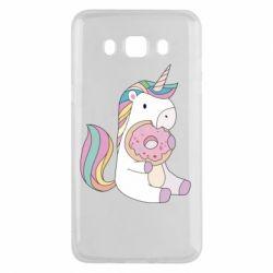 Чехол для Samsung J5 2016 Unicorn and cake