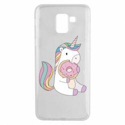 Чехол для Samsung J6 Unicorn and cake
