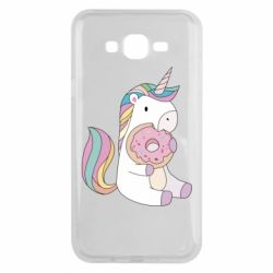 Чехол для Samsung J7 2015 Unicorn and cake