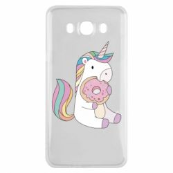 Чехол для Samsung J7 2016 Unicorn and cake