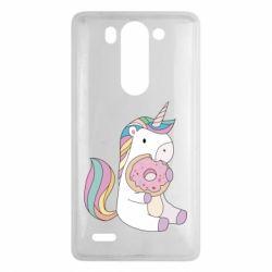 Купить Прикольные рисунки, Чехол для LG G3 mini/G3s Unicorn and cake, FatLine