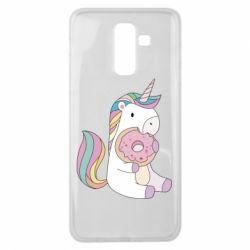 Чехол для Samsung J8 2018 Unicorn and cake