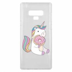 Чехол для Samsung Note 9 Unicorn and cake