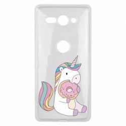 Купить Чехол для Sony Xperia XZ2 Compact Unicorn and cake, FatLine