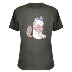 Камуфляжная футболка Unicorn and cake