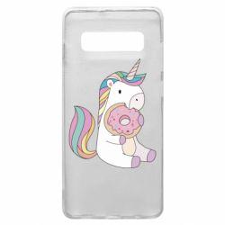 Чехол для Samsung S10+ Unicorn and cake