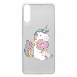 Чехол для Samsung A70 Unicorn and cake
