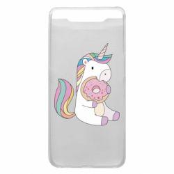 Чехол для Samsung A80 Unicorn and cake