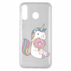 Чехол для Samsung M30 Unicorn and cake
