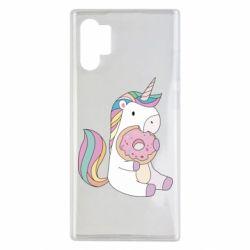 Чехол для Samsung Note 10 Plus Unicorn and cake