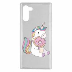 Чехол для Samsung Note 10 Unicorn and cake