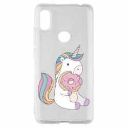 Чехол для Xiaomi Redmi S2 Unicorn and cake