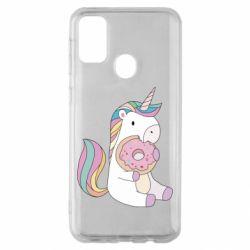 Чехол для Samsung M30s Unicorn and cake