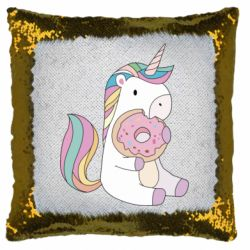Подушка-хамелеон Unicorn and cake