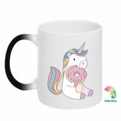 Кружка-хамелеон Unicorn and cake